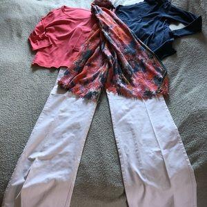 JJill, 2 tops, matching scarf and pants.